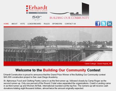 Erhardt Construction Building Our Community Contest