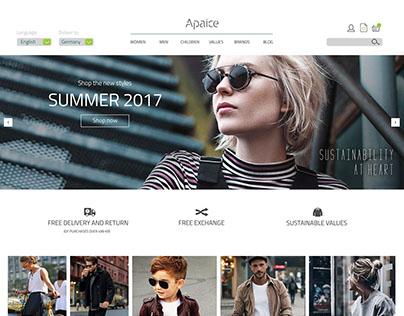 Apaice Landing Page Mockup
