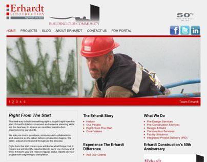 Erhardt Construction Website