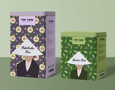 Concept packaging design for Tam Chau tea brand
