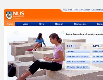 NUS DVO website design