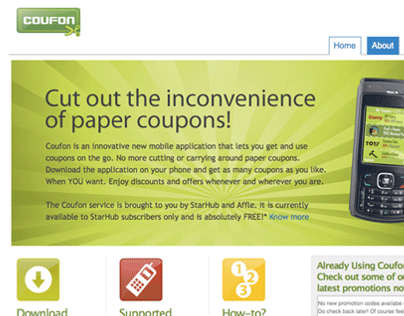 Mobile UI design at Affle
