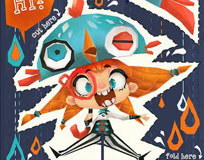 """Orange Circus"" Personal Business Card Design Ver.2015"