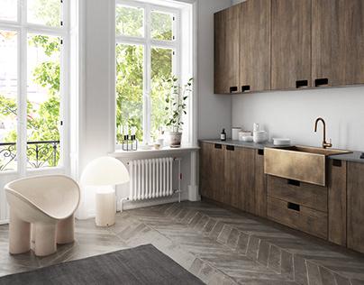 Small scandinavian kitchen