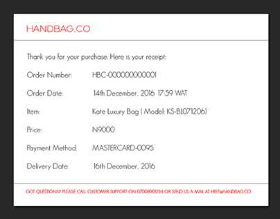 daily UI 017. Email receipt.