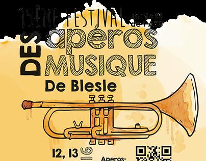 Affiche pour le Festival des Apéros Musique de Blesle