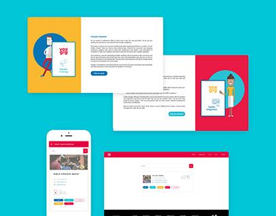 User interface design for events platform