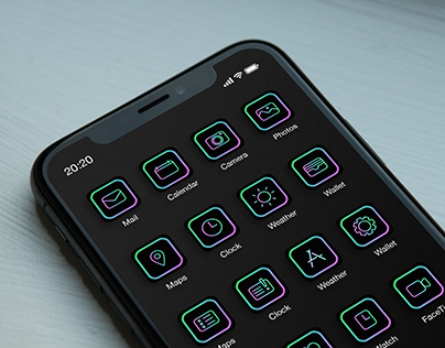Icon set for iPhone 12 - A design for myself