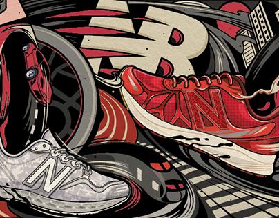 New Balance x TMALL co-brand illustration