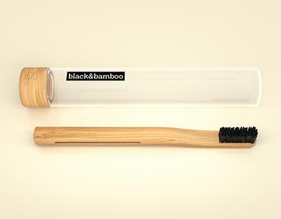 Black&Bamboo Sustainable Toothbrush