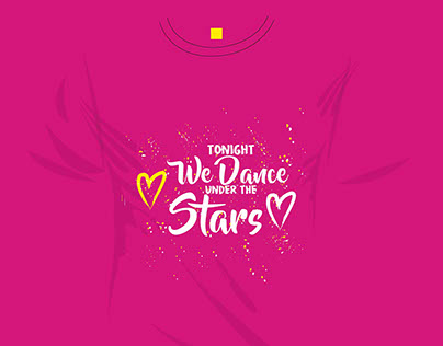 Vector and love slogan for T- shirt printing. Tonight W