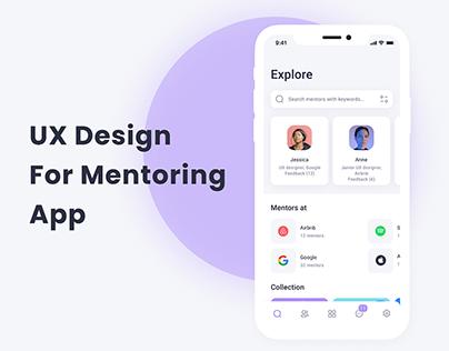 Mentoring app UX / UI design