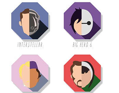 Cool Movies I Recently Watched - Flat Design