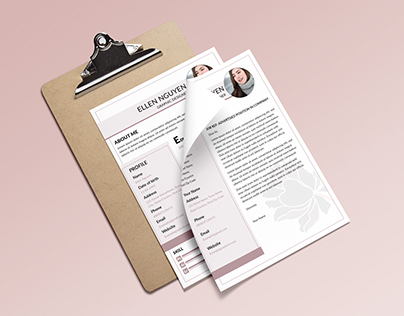 [Download]Flower resume and cover letter template