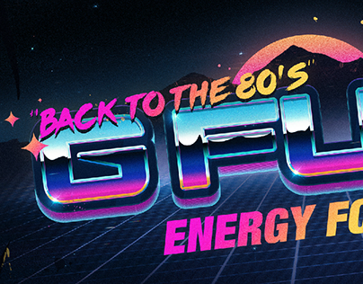 Back To The 80's   GFUEL Sticker Design