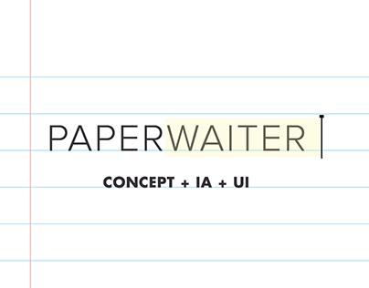 Paperwaiter app