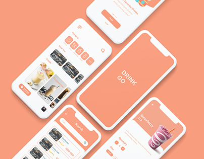 DrinkGo - Drinks Delivery app UI/UX