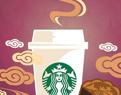 Starbucks Mid-Autumn Festival poster