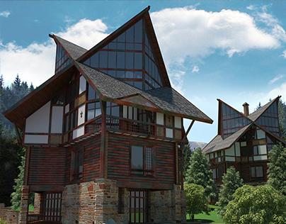 half-timbered hotel