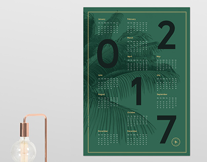2017 'Palm' Calendar
