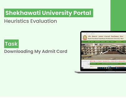 Shekhawati Uni. Portal - Web Heuristics Evaluation