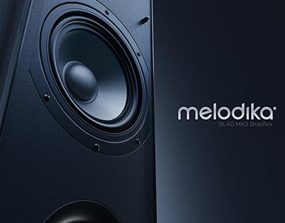 Melodika - wizualizacje kolumny
