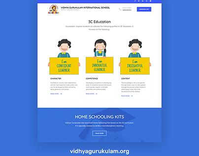 WordPress website development for Vidhya Gurukulam