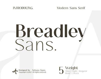 FREE | Breadley Sans - A Modern Sans Serif