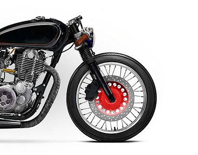 Yamaha SR500 Cafe Racer 1/8 Mile concept motorcycle