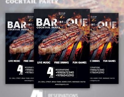 Bar-Be-Que Flyer & Social Media