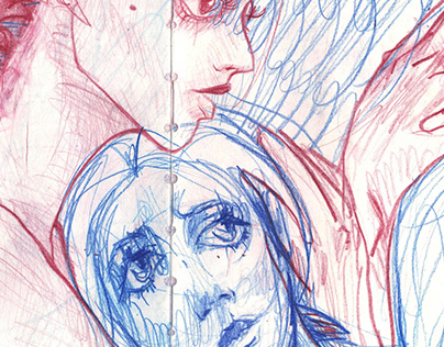 "Mini series of drawings ""Humanity"""