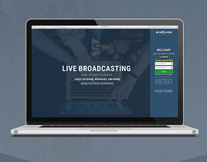 Landing Page Design for Streaming Project