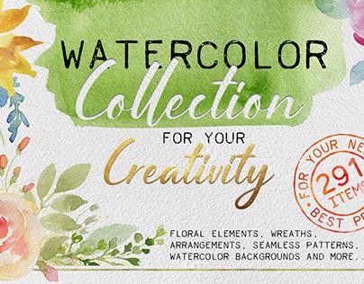 Watercolor big collection
