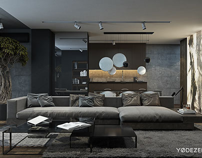 Twilight interior on behance for Bachelor pad interior design pictures