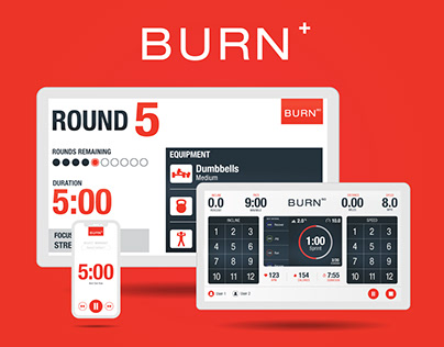 Burn+ Connected Group Training System | UX/UI