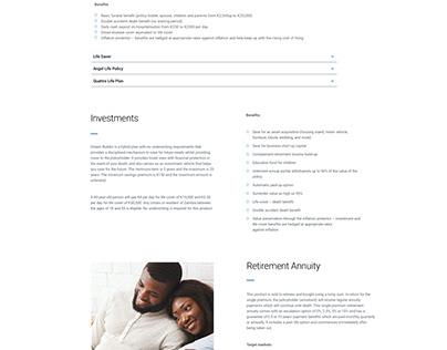 Zambia Insurance Landing Page