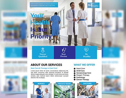 Hospital-Flyer design