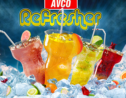 Refreshment drink poster