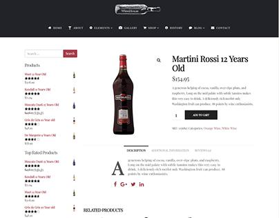 Shop Single Product Page - Wine WordPress Theme