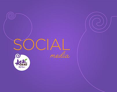 Social Media • Açaí no Grau