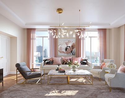 Rose Gold Living Room
