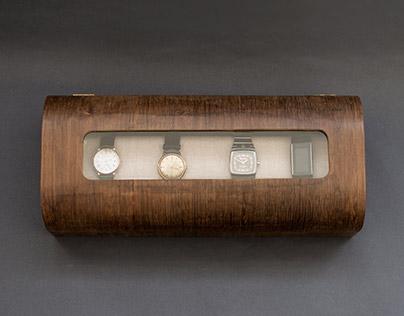 Modern handmade wooden watch box