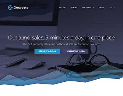 Growbots | Outbund sales. 5 minutes a day. In one place