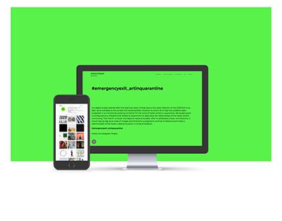 #emergencyexit_artinquarantine web site