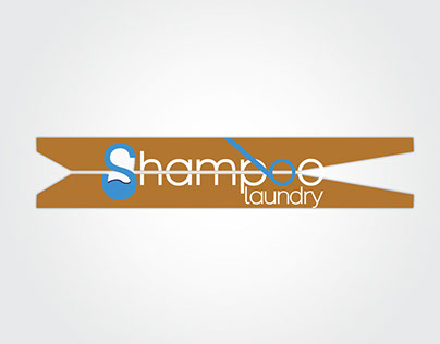 Logo for a laundry shop
