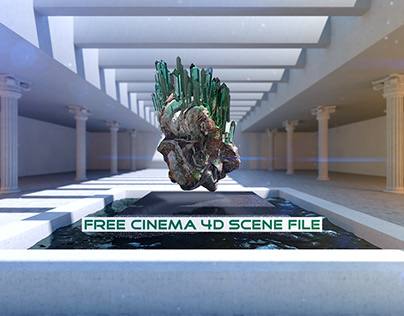 Simple Crystal   Fully Rigged Free Cinema 4D Scene File