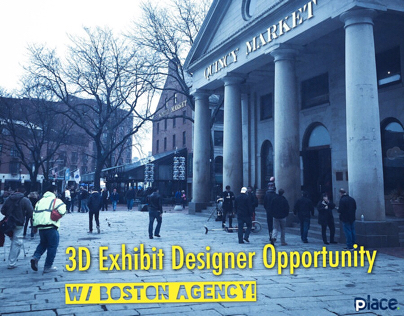 Sr. 3D Exhibit Designer opportunity in Boston!!