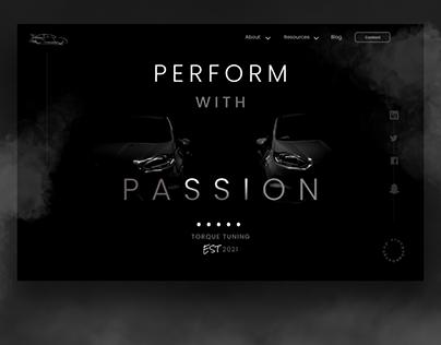 Automotive Inspired Web Design by Irvin Guadarrama