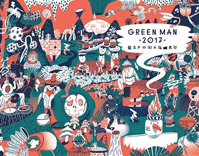 Aart-Jan Venema   Greenman 2017 - Festival Branding