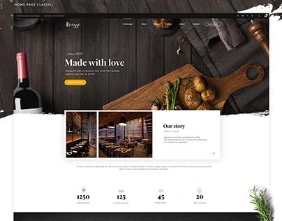 Picasso restaurant - Web design